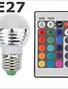 E26/E27 - 3 Globlampor (RGB 300-500 lm AC 85-265