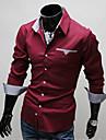 romeo män casual långärmad bomullsskjorta