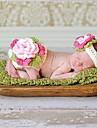 1 buc moda copii copil fată de flori mare costum alb realizate manual croșetat nou-născut copii tricot costum 0-6 lună