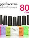 safir uv färg gel nagellack (7,3 ml, 049-064 färger)
