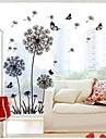 väggdekorationer väggdekaler, maskros pvc väggdekorationer