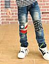 Boy's Knee Star Printed Pants