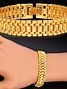 fantasi heta försäljning kätting armband 18k äkta guld platina chunky armband armring för kvinnor män högkvalitativa