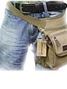 la taille de sac de jambe extérieur toile kaki multifonctionnels hommes