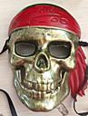 Masque Pirate Fête / Célébration Déguisement d'Halloween Marron Imprimé Masque Halloween Carnaval Nouvel an Unisexe PVC