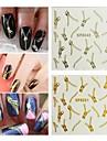 5st dragkedja nagel konst stick guld / silver att välja