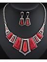 masoo kvinnors nytt mode droppa geometri halsband och örhängen