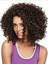 fashionabla kvinnors limfria djupt lockigt kort hår peruk för afrikansk amerikan