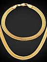 nouvelle fantaisie bracelet collier de chaîne de blé mis en plaqué or 18k chunky bijoux pour hommes avec timbre 18k 6mm de haute qualité 55cm