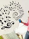 väggdekorationer väggdekaler, musik noterar pvc väggdekorationer