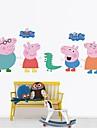 stickers muraux stickers muraux, de porc famille bonheur muraux PVC autocollants.