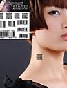 1st streckkod tvådimensionell kod tatuering klistermärken temporära tatueringar