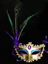 Masque Cosplay Fête / Célébration Déguisement d'Halloween Violet Imprimé Masque Halloween Carnaval Nouvel an Unisexe PVC