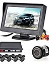 12v 4 capteurs de stationnement MONITEUR LCD caméra vidéo voiture inverser kit alarme du système d'avertisseur de radar sauvegarde