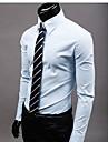 LEKSPEL män casual enfärgad skjorta