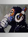 Peint à la main Animal Horizontale,Classique Moderne Traditionnel Un Panneau Toile Peinture à l'huile Hang-peint For Décoration