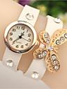 vallmo kvinnors eleganta strass rosett klocka