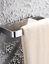 HPB®,Handdukshängare Krom Väggmonterad 20*8.6cm(7.9*3.4 tum) Mässing Modern