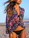 Women's Fashion Retro Print Chiffon Wrap Scarf Swimsuit Swimwer  Bikini Beach Cover Up