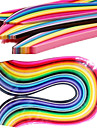 400pcs 3mmx53cm papier quilling (40 pcs couleur x10 / couleur) de bricolage décoration d'art
