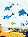 stickers muraux stickers muraux, dauphin lumineux muraux PVC autocollants
