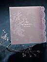 """Pliat Invitatii de nunta 50-Invitații Stil Vintage Stil Flora Hârtie Perlă 4 ¾""""×5 ½"""" (12cm*14.5cm)"""