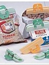 4 Pieces Food Packing Sealing Clip,Plastic 6×1.5×1.3 CM(2.4×0.6×0.6 INCH) Random Color