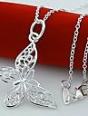 rent högkvalitativ försilvrade elegant fjäril halsband