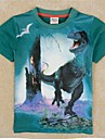 Boys T shirt Kids Summer Short Sleeves T shirt Green T shirt Dinosaur Printing Boys Tees
