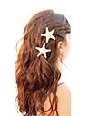 shixin® forme d'étoile de mer européen barrettes blanches de cauris pour les femmes (taille de ramdon) (1 pc)