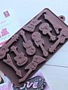10 håls gitarrform tårta is gelé choklad formar, silikon 15 × 14,5 × 1,5 cm (6,0 × 5,8 × 0,6 tum)