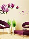 stickers muraux autocollants de mur, naturelles romantiques mangnolia pvc stickers muraux