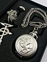Klocka/Armbandsur Inspirerad av Fullmetal Alchemist Edward Elric Animé Cosplay Accessoarer Halsband / Klocka/Armbandsur / Ring SilverMan