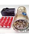 Sky Ray LED-Ficklampor LED 9600lm Lumen 3 Läge Cree XM-L T6 18650 Vattentät / Laddningsbar / NattseendeCamping/Vandring/Grottkrypning /