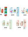 14pcs belle no.14-19 style cartoon Stricker nail art de la série D (modèle assortis)