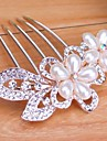 belle mariée fleur populaire européen strass de luxe de style peigne