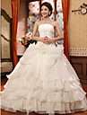 Rochie de mireasa fara bretele lungime de podea organza rochie de mireasa cu floare aplicatii floare