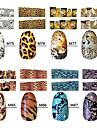 10st leopard stil nail art klistermärken m serien n0.75-88 (diverse mönster)