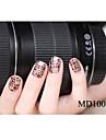 14pcs mode glitter pulver nail art klistermärken md serien no.1003g