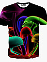 notch män blomtryck causual mode kortärmad t-shirt