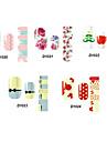 14pcs härlig tecknad stil nail art Stricker d serien no.20-24 (diverse mönster)