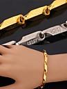 tjusiga vintage coola för män 18k chunky guldpläterad 316L rostfritt stål armband kätting för män kvinnor högkvalitativa
