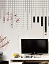 mur miroir décalcomanies stickers muraux, 25 pcs bricolage carrés miroir mosaïque acrylique murales autocollants