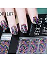 14pcs bonbons couleur ongles autocollants de bande dessinée art de no.1107 série mdp