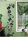 Wall Stickers väggdekaler, svart blomma vinstockar pvc väggdekorationer
