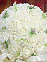 un bouquet de 30 roses pe de simulation de mariage bouquet de mariage mariée tenant des fleurs, blanc
