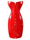 Cosplay Kostymer/Dräkter Uniformer Festival/Högtid Halloween Kostymer Röd / svart Enfärgat Klänning Kvinna Polyester