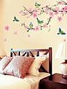 Botanique Romance Nature morte Mode Floral Fantaisie Stickers muraux Stickers avion Stickers muraux décoratifs Stickers mariage, Papier