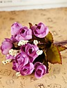 Une succursale Soie Plastique Roses Fleur de Table Fleurs artificielles #(22*14*14 cm(8.7*5.5*5.5 in))