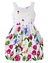 Fata lui Violet Floral Bumbac Organic Vară / Primăvară Violet